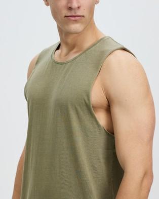 Staple Superior Organic Staple Organic Vintage Muscle - T-Shirts & Singlets (Khaki)