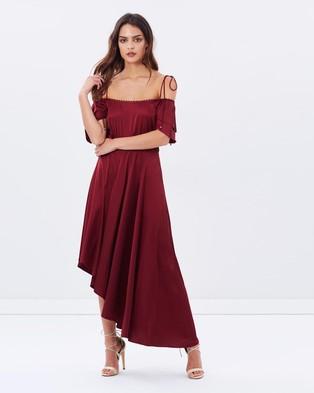 Dark Pink – Asymmetric Dress Burgundy