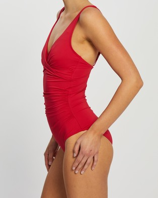 Sea Level Australia Cross Front Multi fit One Piece - One-Piece / Swimsuit (Red)