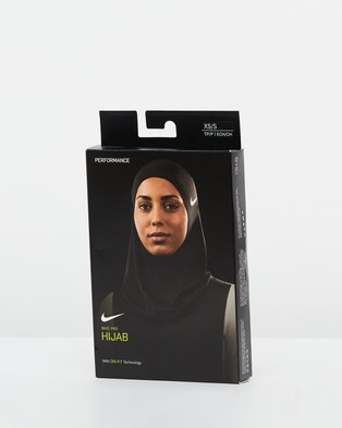 Nike Pro Hijab 2.0 - Running (Black & White)