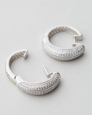 Jackie Mack Festive Hoops - Jewellery (18K White Gold)