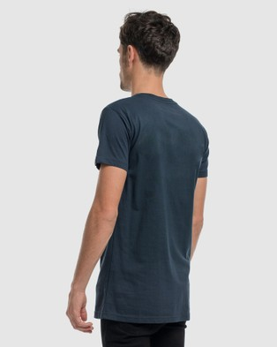 DVNT Anchor Embroidery Tee - Short Sleeve T-Shirts (Navy)