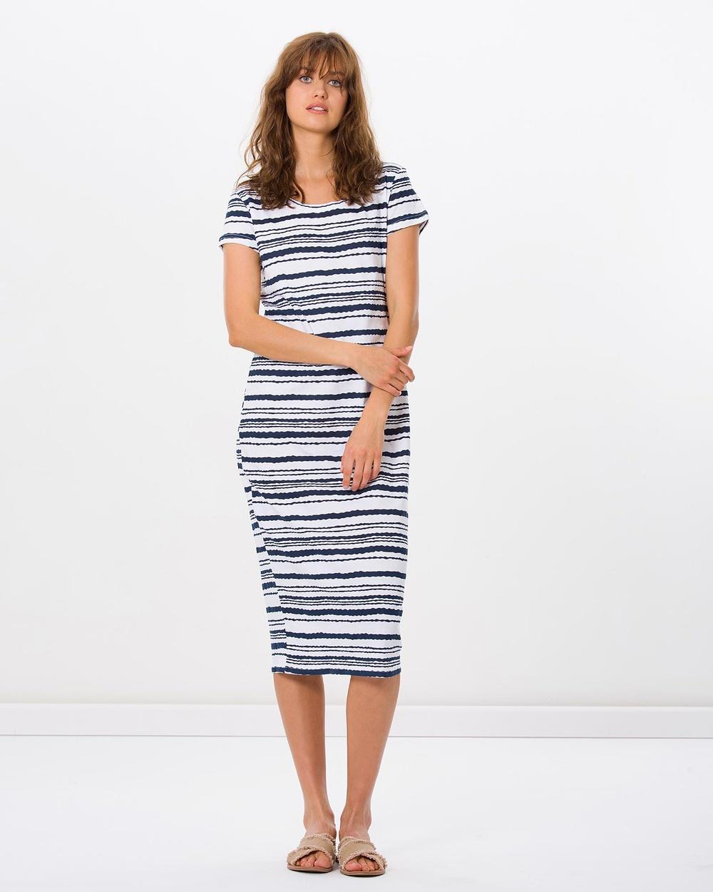 Kaja Clothing Marissa Dress Dresses Navy Stripe Marissa Dress