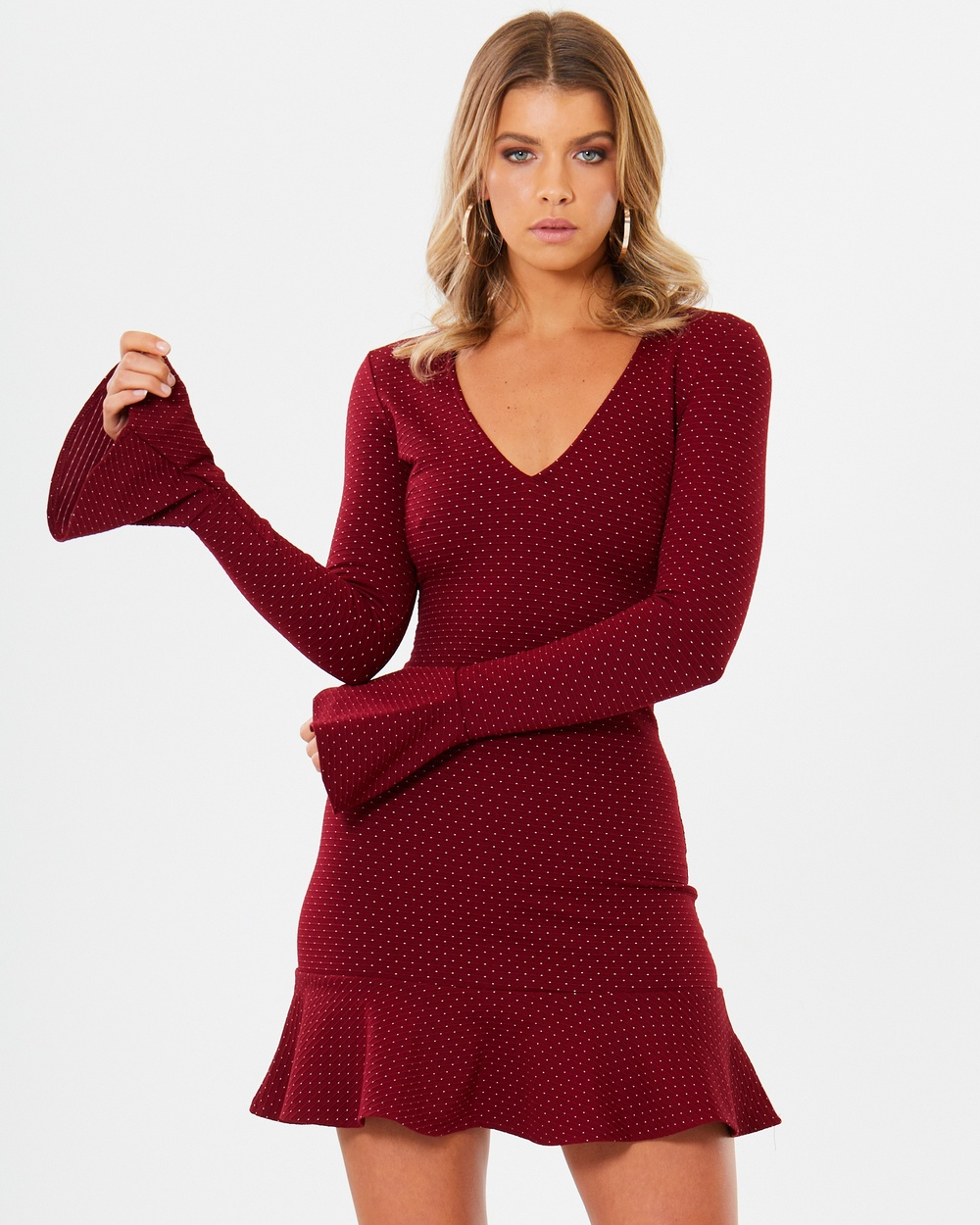 Photo of Tussah Red Polka Dot Iona Knit Dress - beautiful dress from Tussah online