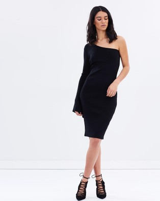 Eclect – Court One Shoulder Dress – Bodycon Dresses Black