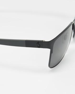 Polo Ralph Lauren PH3128 - Sunglasses (Matte Black & Grey)