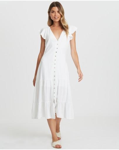 The Fated Descendant Shift Midi Dress White