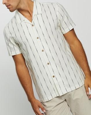 AERE Nachi Resort SS Shirt - Casual shirts (White)