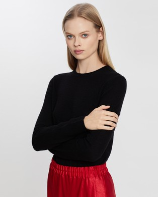 Theory Crew Neck Pullover - Jumpers & Cardigans (Black)