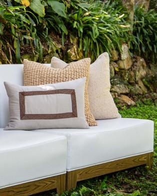 Bandhini Design Diamond Weave Cushion - Home (Natural)