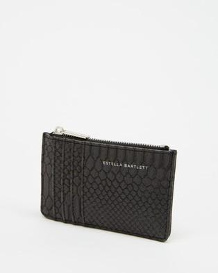 Estella Bartlett Rectangle Card Purse - Wallets (Black Snake)