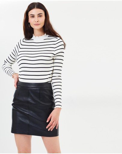 Nobody Denim - Classic Leather Skirt