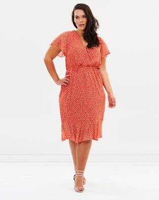 Atmos & Here Curvy – Sasha Frill Dress – Dresses (Ditsy Animal)