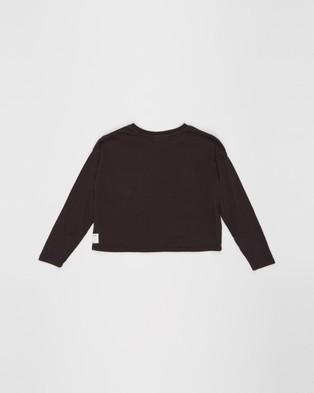 Eve Girl Eagle Sleeve Tee   Teens - Tops (Washed Black)