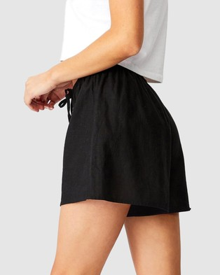 Cotton On Cali Pull On Shorts - High-Waisted (Black)