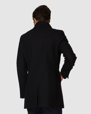 Jack London Manchester Black Coat - Coats & Jackets (Black)