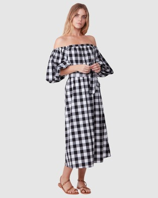 TORANNCE Casual Weekend Dress - Printed Dresses (Black and White)