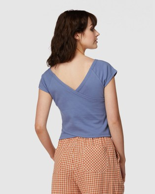 Princess Highway Cross Back Tee - Tops (Blue)