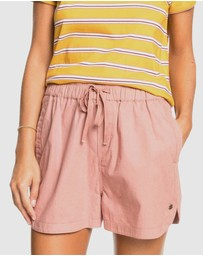 Roxy - Womens Lekeitio Playa Linen Shorts