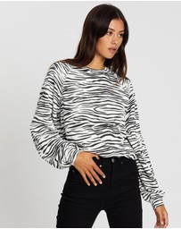 All About Eve - Zebra Print Crew Sweater