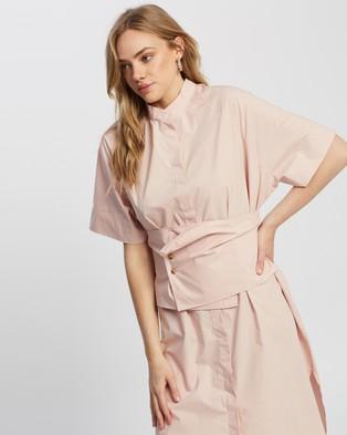Apartment Clothing Parker Obi Shirt Dress - Dresses (Pink)