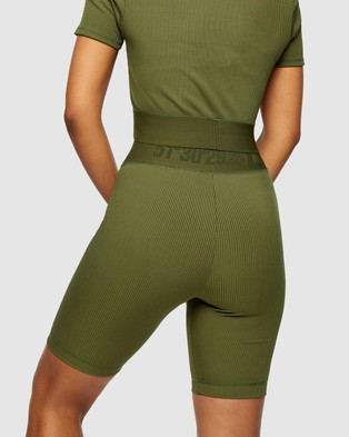 TOPSHOP Active Ribbed Sports Crop Top - Cropped tops (Khaki)