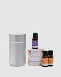 ECO. Modern Essentials - ECO. Nebulizing Diffuser & Relax & Unwind Trio Collection