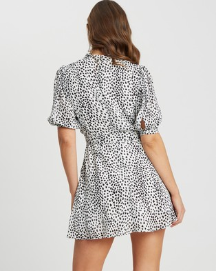 Tussah - Laurina Mini Dress - Printed Dresses (White Speckle Spot) Laurina Mini Dress