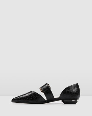 Jo Mercer Clover Dress Flats - Ballet Flats (Black)