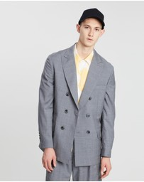 Band of Outsiders - Double Breasted Oversized Tailored Jacket