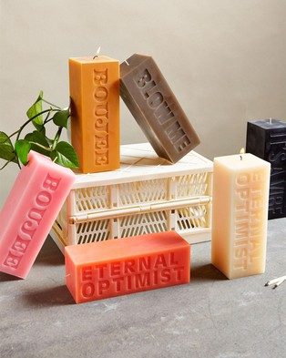 Typo Pillar Block Candle - Candles (Blow Me)
