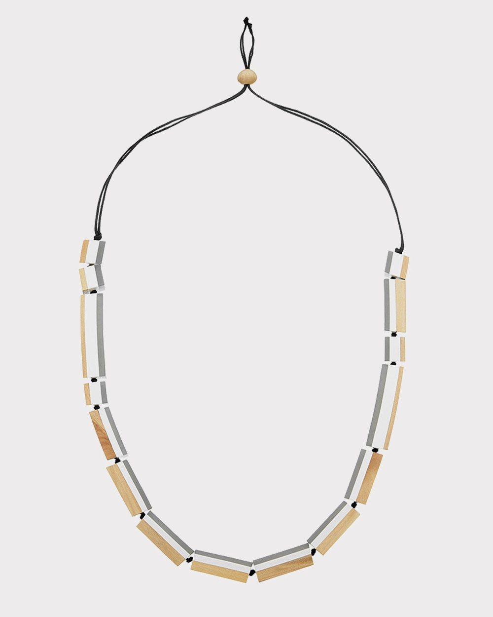 Florence Broadhurst Turnabouts Spliced Adjustable Necklace Jewellery Black/White