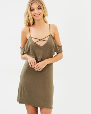 Atmos & Here – Martha Swing Dress – Bodycon Dresses (Khaki)