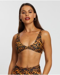 Missguided - Tortoise Scoop Neck Bikini Top
