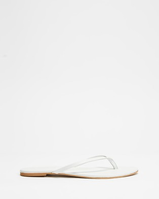 Atmos&Here Palm Leather Thongs - All thongs (White Leather)