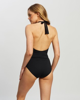 St. Swim Aveiro Twist Front One Piece - One-Piece / Swimsuit (Black)