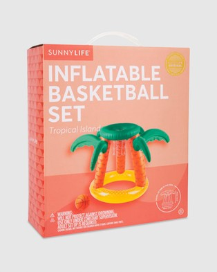 Sunnylife Inflatable Basketball Set - Accessories (Tropical Island)