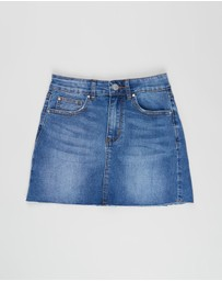 Free by Cotton On - Stretch Denim Skirt - Teens