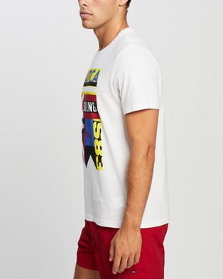 NAUTICA Signal Flag Collage Graphic Tee - T-Shirts & Singlets (Bright White)