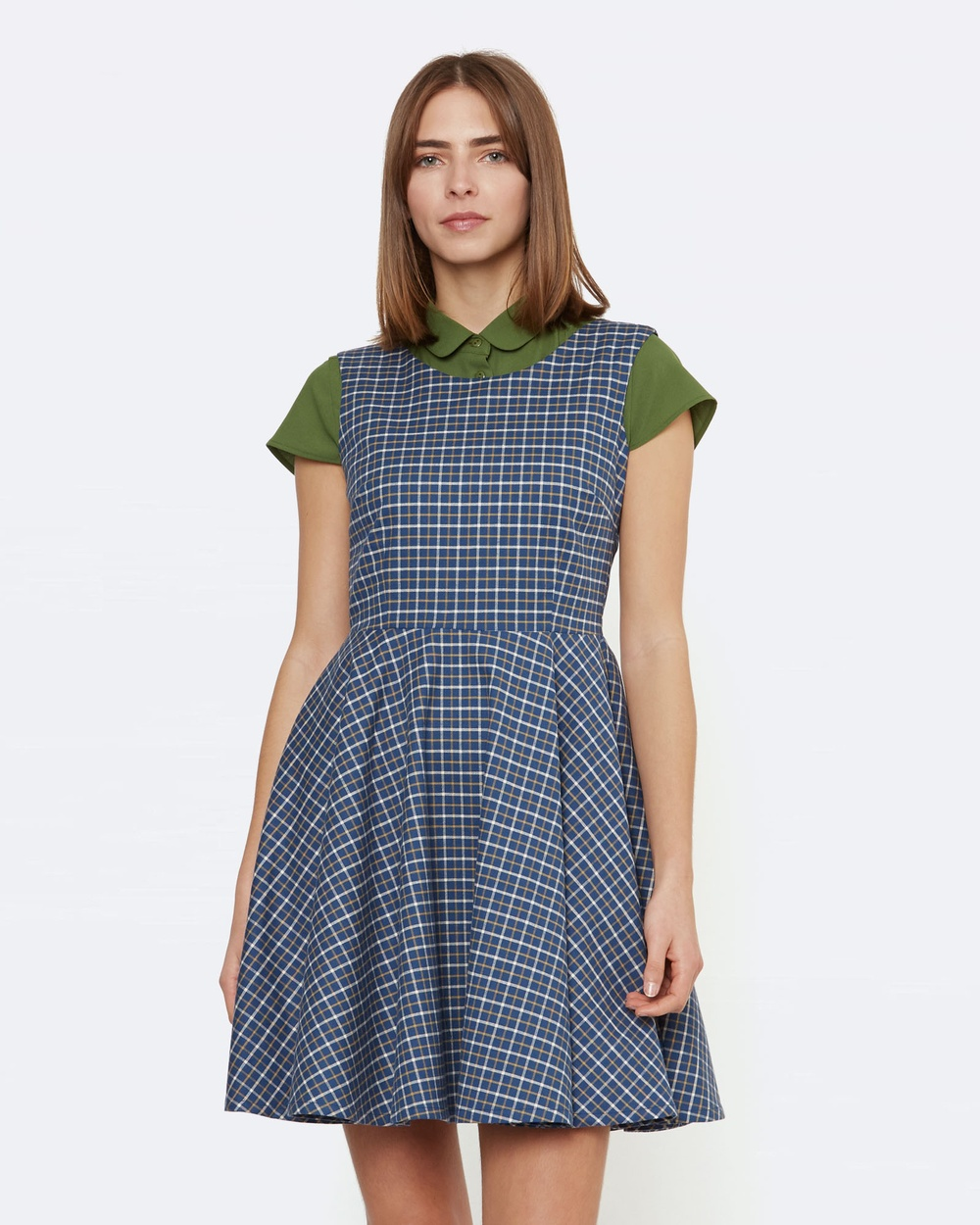 Princess Highway Millicent Check Dress Dresses Blue Millicent Check Dress
