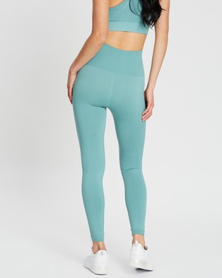 Doyoueven Hyperflex Seamless Leggings - Full Tights (Teal Green)