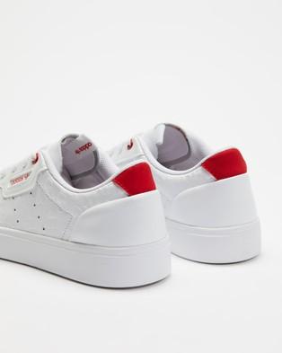 adidas Originals Sleek   Women's - Lifestyle Sneakers (White & Scarlet)