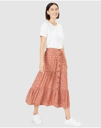 French Connection - Floral Tiered Skirt