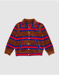 Mini Rodini - Velour Stripe Jacket - Kids-Teens