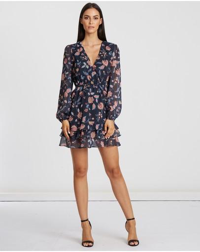 Tussah Riviera Frill Tier Dress Midnight Floral