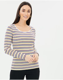 Sportscraft - Heidi Long Sleeve Stripe Tee
