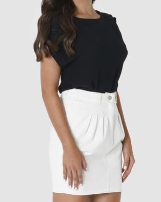 Amelius Aleeta Top - T-Shirts & Singlets (Black)