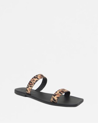 Caverley - Kay Slide Sandals (Leopard Satin)