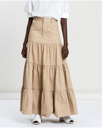 Matin - Long Gathered Tiered Skirt