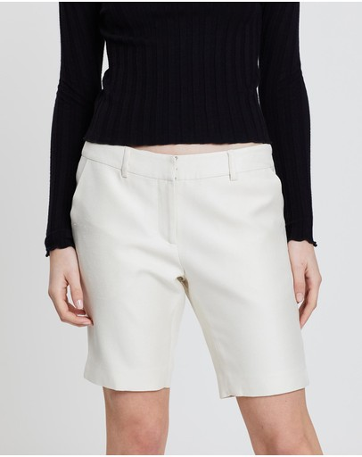 Lindsay Nicholas New York Long Miny Shorts Ecru